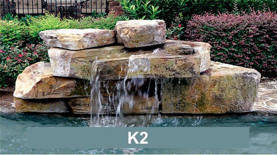 Cascadas rocas modulares para decorar tu piscinaher ldica for Cascada artificial en pared